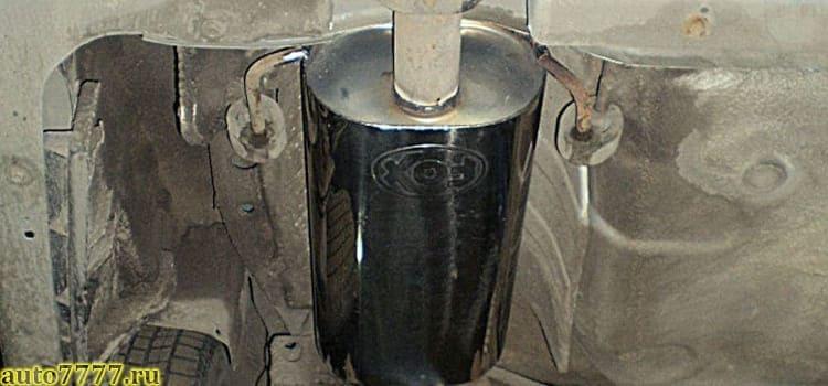 Ремонт глушителей Субару - установка прямотока...
